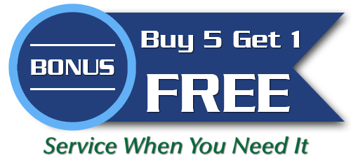 Buy Five Get Sixth Free Special